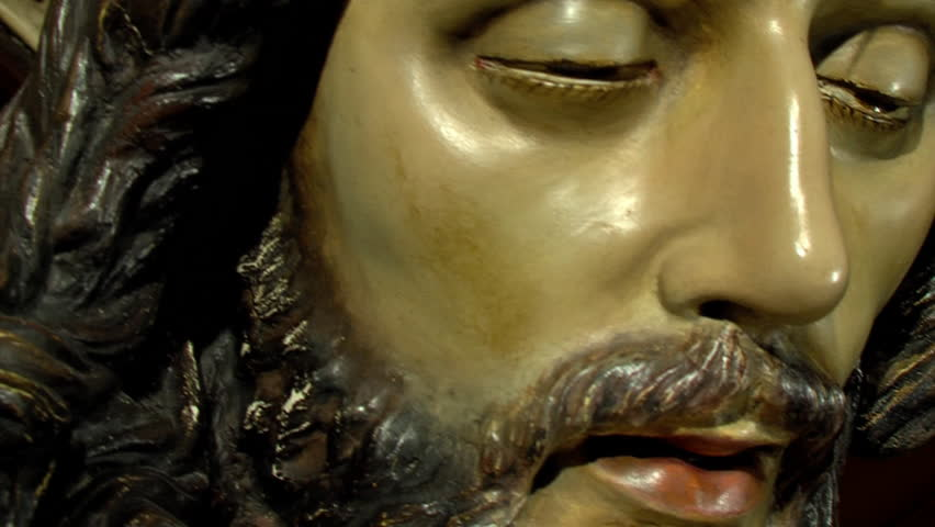 Andalucia, Huelva, Spain-Circa February 2013: Cristo de La Lanzada, a work by Francisco Joaquín Moreno Daza 1985 | Shutterstock HD Video #7899829