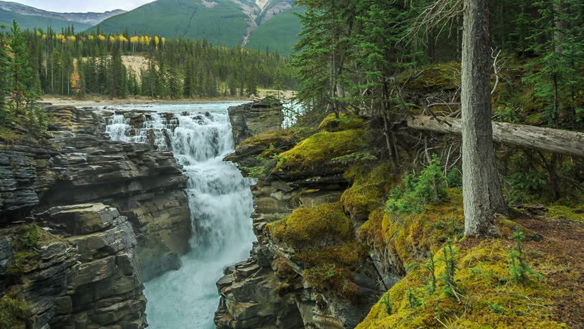 Athabasca Falls, Icefields Parkway, Alberta, Canada | Shutterstock HD Video #7903069