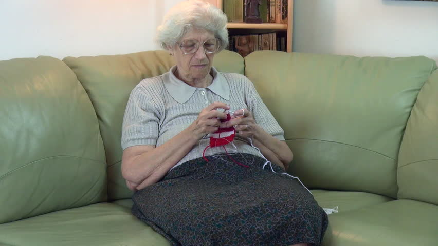 Watching Tv, Old Woman Fall Asleep, Sleepy Grandmother On -5102