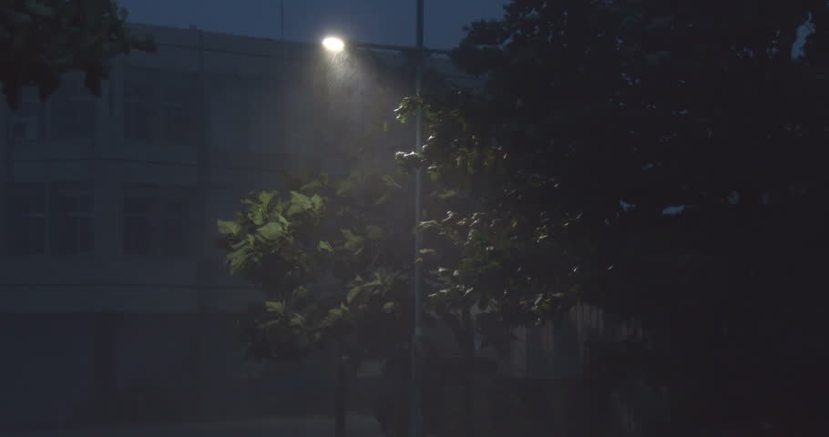 Strong Hurricane Winds Hit City At Night. Strong winds and torrential rain lash a city at night as a powerful hurricane hits. Originally shot in 4K on Sony PXW Z100 4096x2160 30p - Matmo