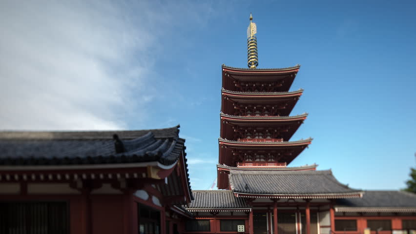 The senso ji shrine in tokyo japan    Shutterstock HD Video #8039869