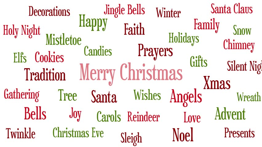 Christmas Words.Christmas Related Words Thecannonball Org