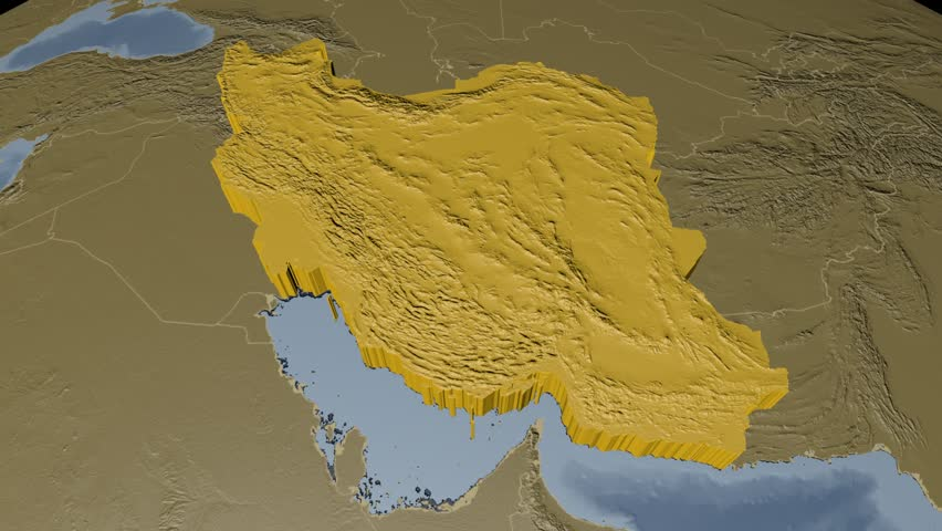 Iran extruded on the world map with administrative borders iran extruded on the world map with administrative borders elevation and bathymetry data on solid colors used elements of this image furnished by nasa gumiabroncs Images