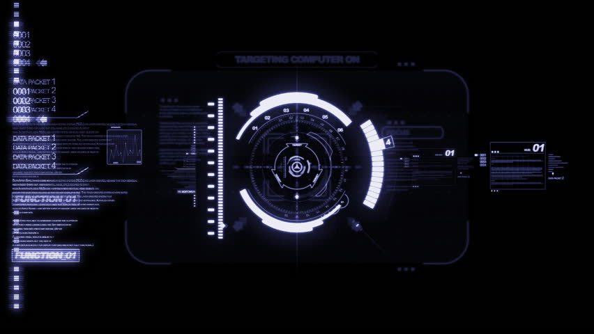 HUD Heads Up Display Scanner high tech target digital read out | Shutterstock HD Video #8114446