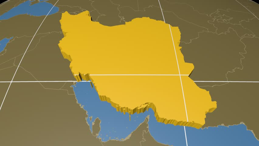 Iran extruded on the world map with administrative borders and iran extruded on the world map with administrative borders and graticule solid colors used stock footage video 8123959 shutterstock gumiabroncs Images