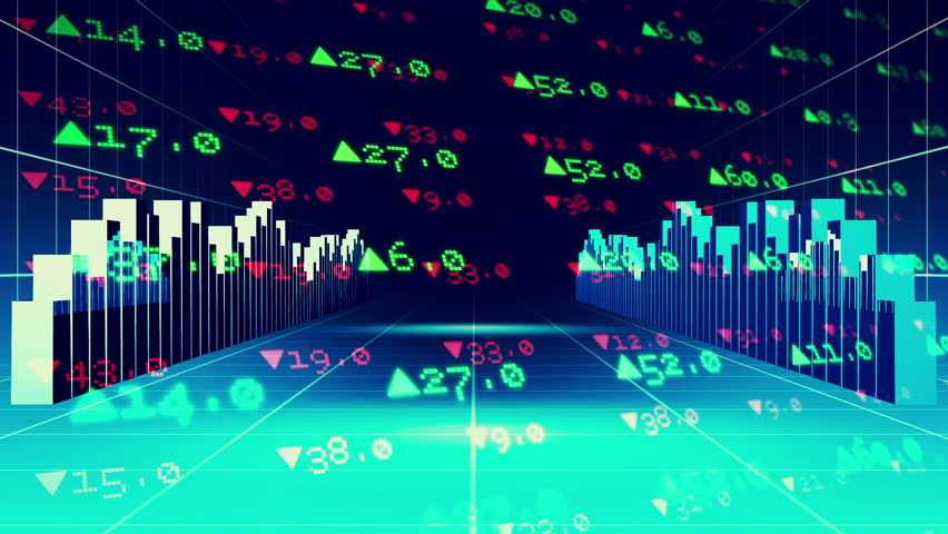 Digital animation of Stocks and shares on black background | Shutterstock HD Video #8143909