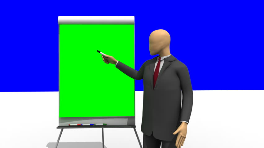 Stock Video Of Animation Showing 3d Man Giving 818629