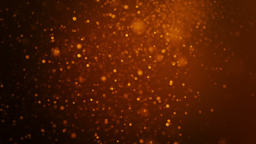 Abstract background with beautiful flickering particles. Underwater bubbles in flow. Animation of seamless loop.