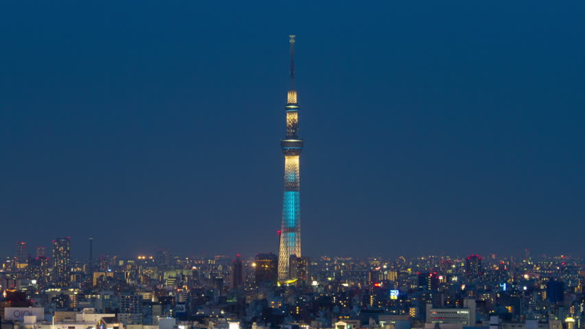 Tokyo, Japan - 5/27/2012: Tokyo Skytree Light up | Shutterstock HD Video #8200699