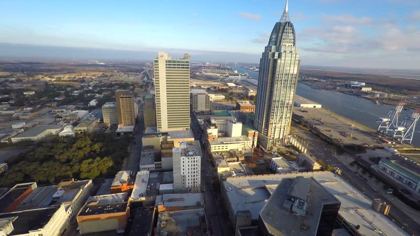 Mobile Alabama aerial video 4k