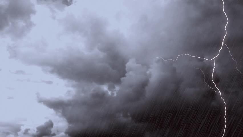 Various Lightning Strikes With Sound, Rain Thunder In ...