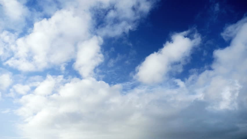4k Blue sky with clouds Time lapse  | Shutterstock HD Video #8258539