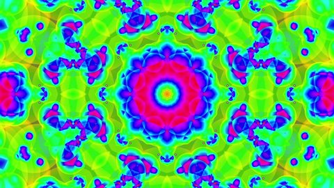 Psychedelic Colorful Kaleidoscope VJ background loop 2