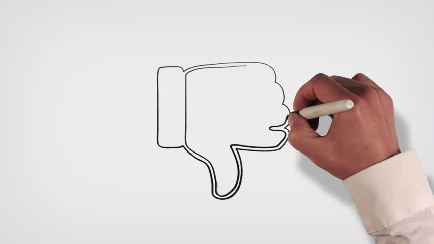Thumbs down blueprint stop motion style animation stock footage thumbs down whiteboard stop motion style animation hd stock footage clip malvernweather Images