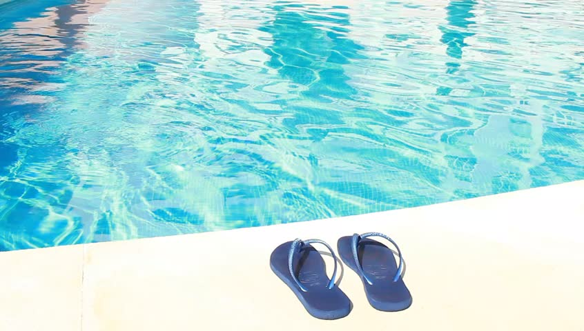 96d21da74c402d Flip-flops and Swimming-pool Stock Footage Video (100% Royalty ...