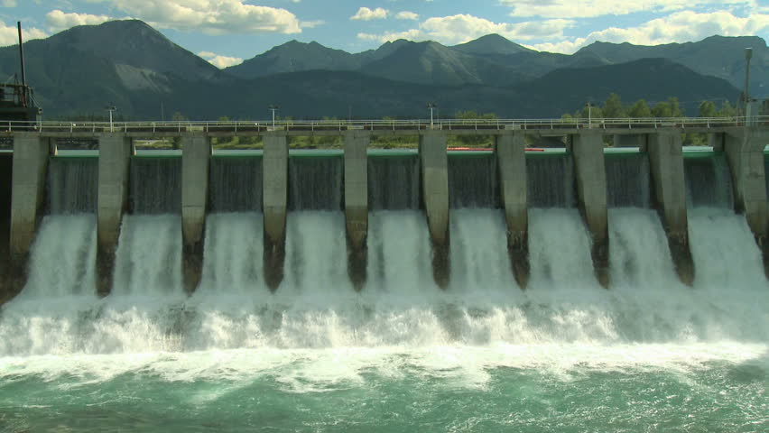 Hydro electric dam in the mountains