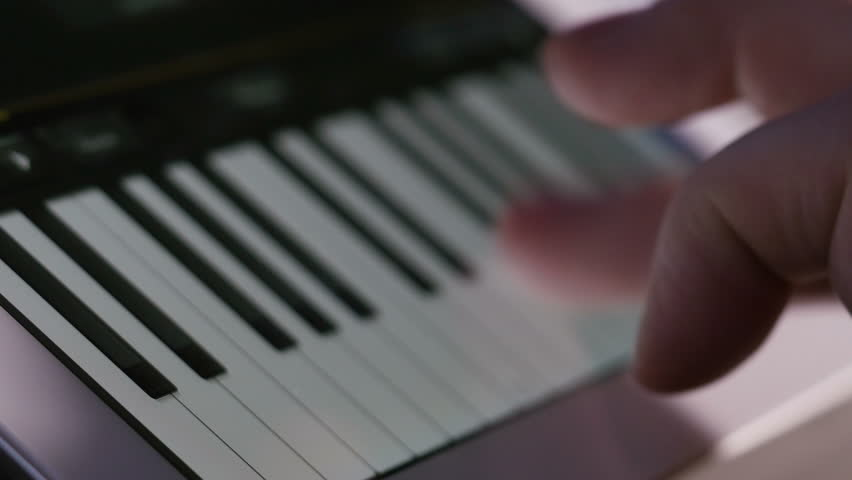 Playing virtual piano on tablet computer, 4K UHD | Shutterstock HD Video #8351599