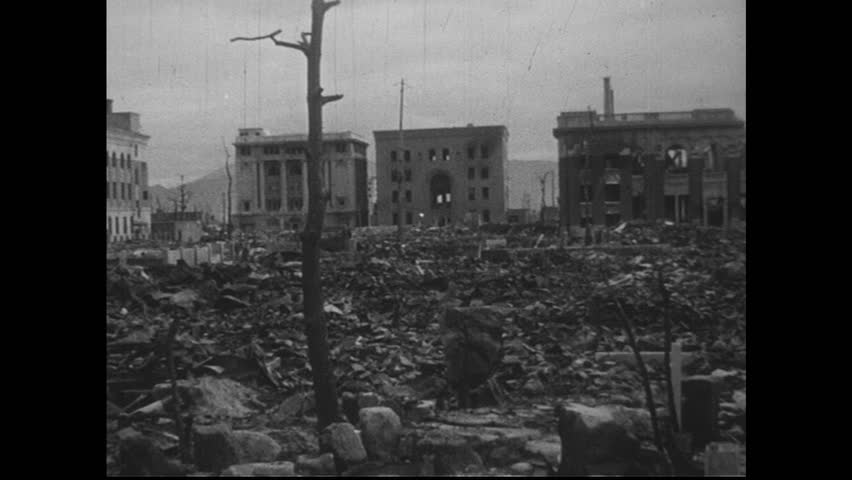 Stock video clip of hiroshima japan 1940s the prominent buildings hd0019hiroshima japan 1940s the devastation of the atomic bomb in hiroshima thecheapjerseys Gallery