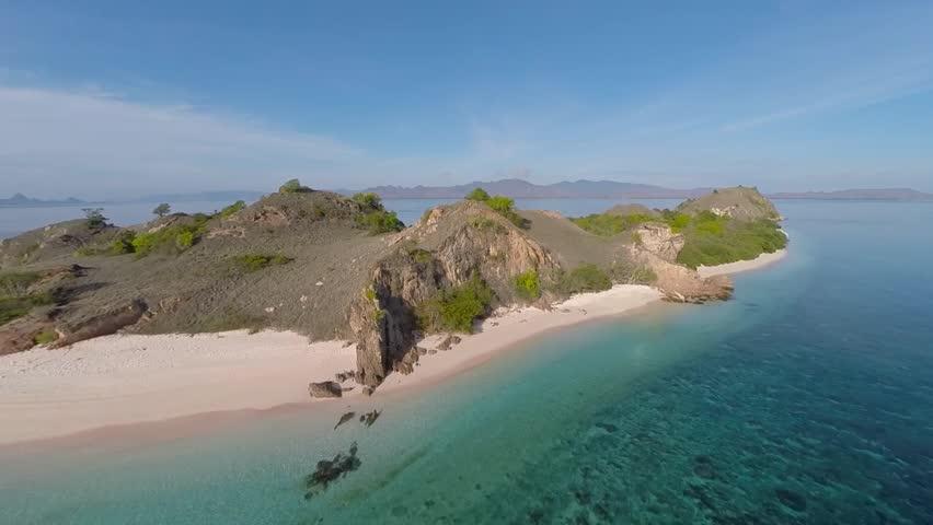 Desert Island in Komodo national park Indonesia