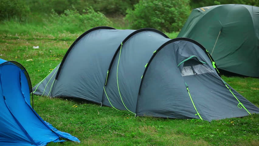 Travel tent - protection from wind and rain. - HD stock video clip & Travel Tent - Protection From Wind And Rain. Stock Footage Video ...