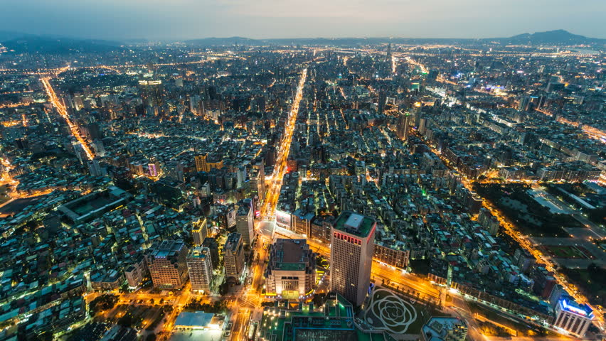 City Skyline Timelapse, Taipei at Night Taiwan | Shutterstock HD Video #8417959