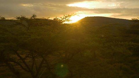 AERIAL: Sunset in Africa