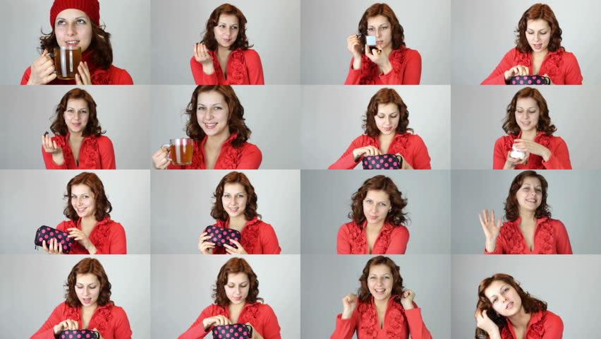 Set - girl in red dress | Shutterstock HD Video #8477941
