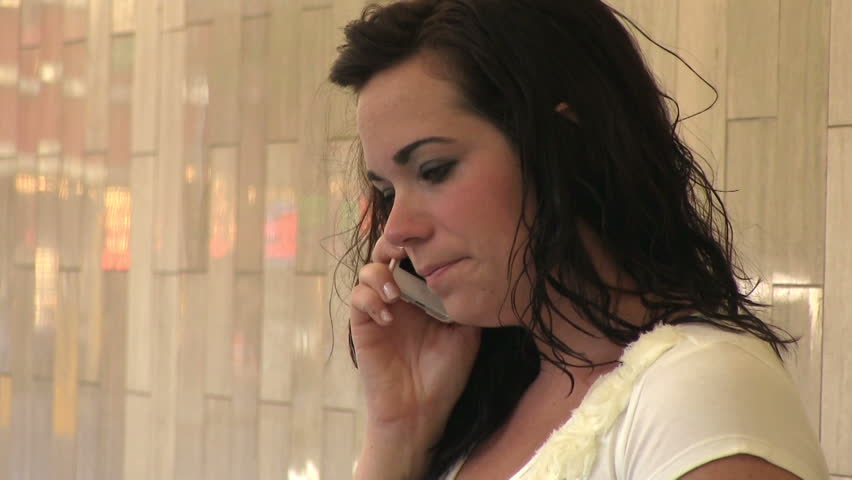 Worried and upset female on cell phone #8496139