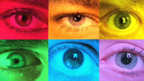 Background of colorful eyes