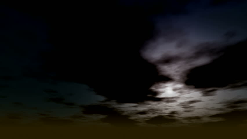 Dramatic Simulation of Horror type clouds moving fast in a time lapse fashion | Shutterstock HD Video #855799