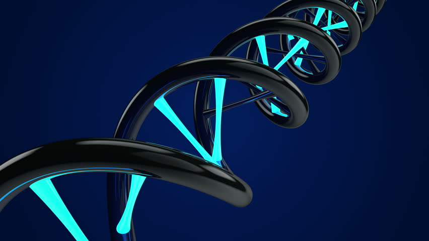 Rotating DNA with glow element. Medic background. Science abstract. Seamless loop. Blue color. Other color in my profile. | Shutterstock HD Video #8600629