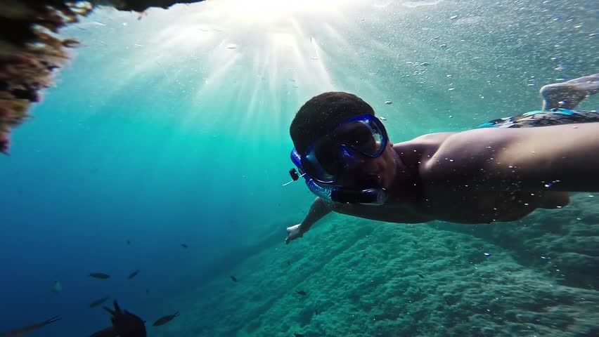 Man Underwater  Hand Water Silhouette Person Sport Fitness Summer Man Boy Nature School Fish Sun Animal Underwater Sea Coral Blue Swimming Tropical Travel Reef Snorkeling Snorkel Gopro HD