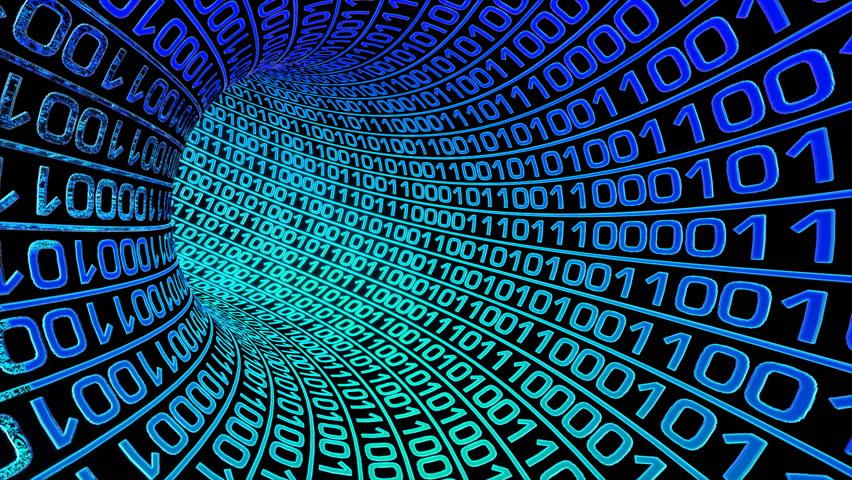 стоковое видео Binary Code In Tube абсолютно без лицензионных