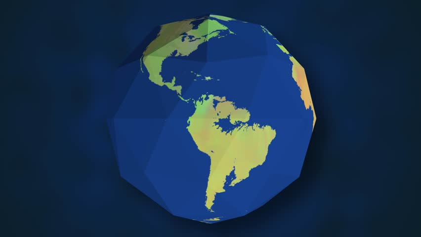 Stock video clip of a spinning earth globe with white latitude 4k0020planet earth globe low polygon animation gumiabroncs Gallery