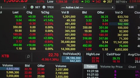 Stock market  - real stock market trading screen  timelapse.