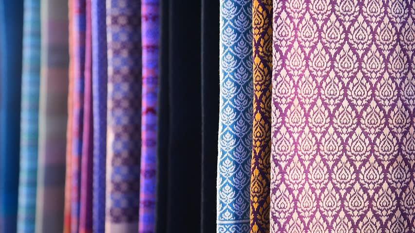 Colorful thai silk handicraft