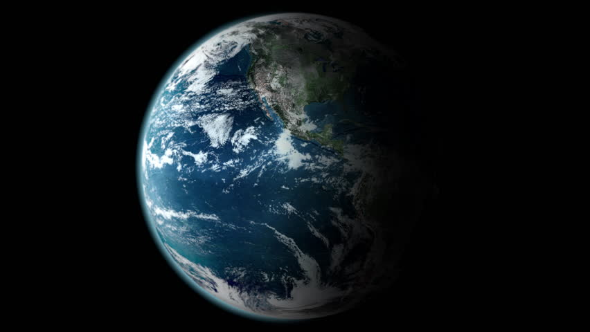 Earth Spinning Slowly - Seamless Loop - Loopable Globe Rotating Complete 360 Degrees - Earth Turning Slowly All the Way Around in 4K