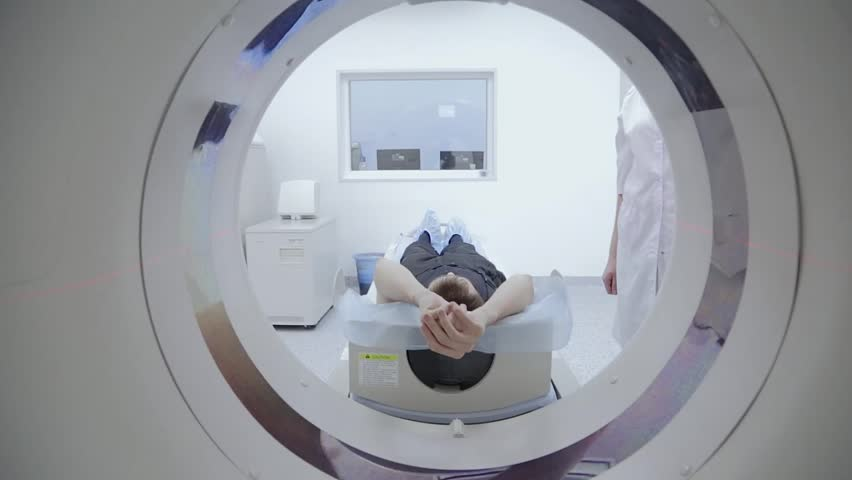 Tomograph, Patient on magnetic resonance imaging, medical examination #8725573