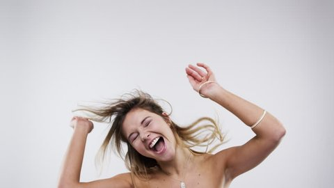 Funny bridesmaid dancing slow motion wedding photo booth series