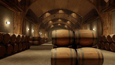 Wine Barrels Camera Paning 1