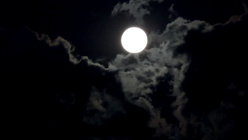 timelapse with moon moving between clouds [best for web use]