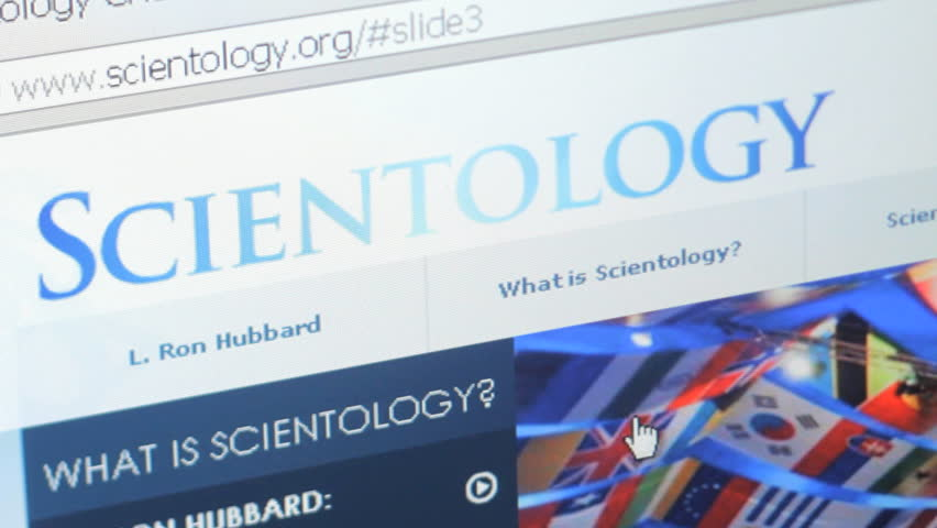 CLEARWATER, FL - FEB 8: Browsing Scientology website on February 8, 2015. Scientology is a body of beliefs and related practices created by author L. Ron Hubbard.