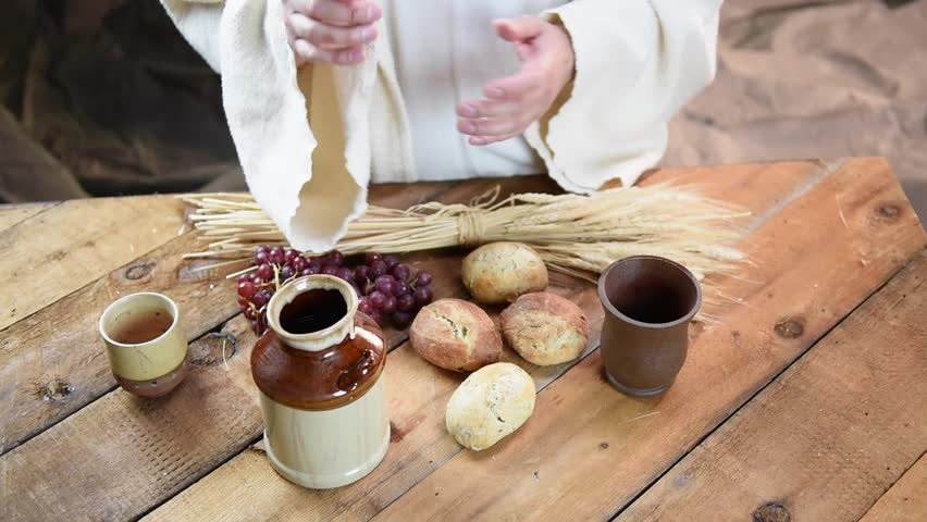 Jesus With Bread And Wine Stock Footage Video 100 Royalty Free