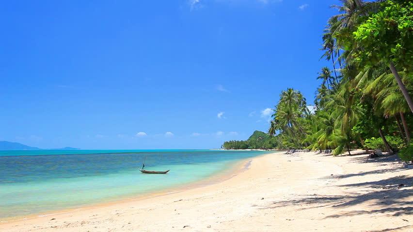 Beautiful tropical beach | Shutterstock HD Video #8852419