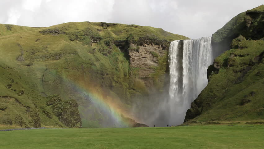 Famous and photography friendly waterfall in the southern part of Iceland, just south of Eyjafjallajokull