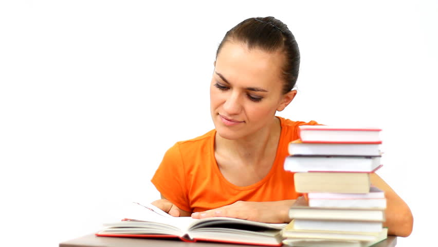 Young Student Reading Book Isolated Stock Footage Video 100 Royalty Free 886189 Shutterstock