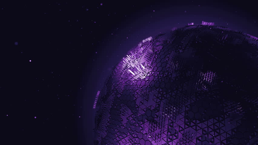 Loop rotating 3d line render of abstract globe model with fractured surface   Shutterstock HD Video #8870329