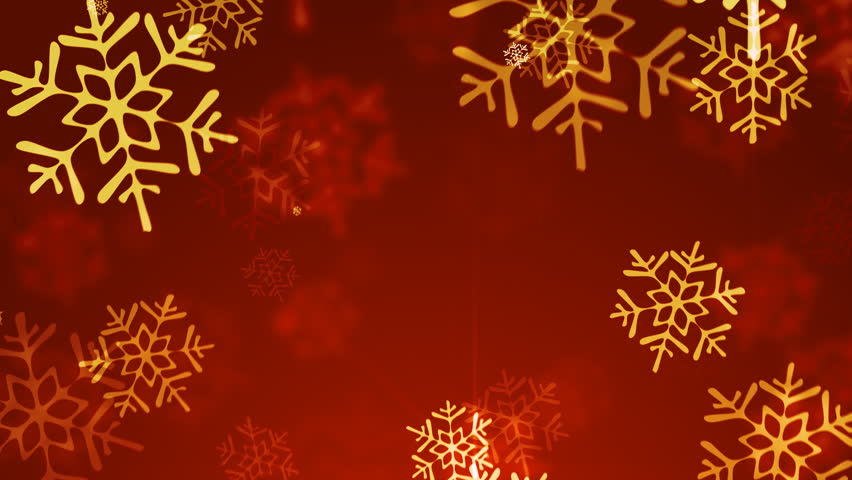 Loopable snowflakes christmas  background.