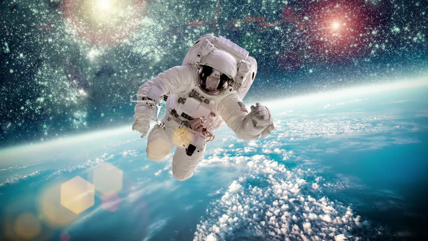 an astronaut in a spaceship see the outer space as - photo #13
