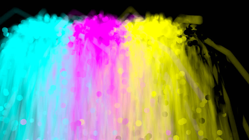 Fountain Of Cyan Magenta Yellow Stock Footage Video 100 Royalty